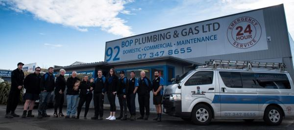 The team at BOP Plumbing and Gas plan to extend their services to the whole Bay of Plenty region. Credit BOP Pumbing and Gas. cp